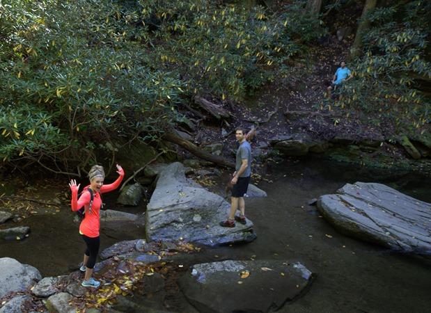 hiking catawba falls