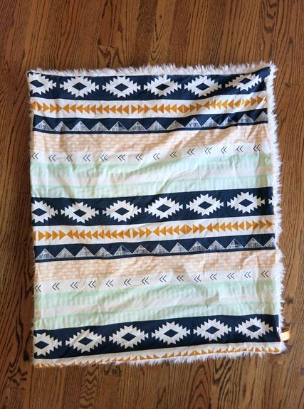 Aztec Stroller Blanket