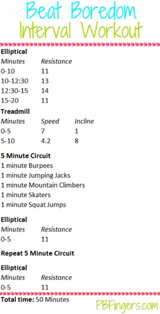Beat Boredom Interval Workout