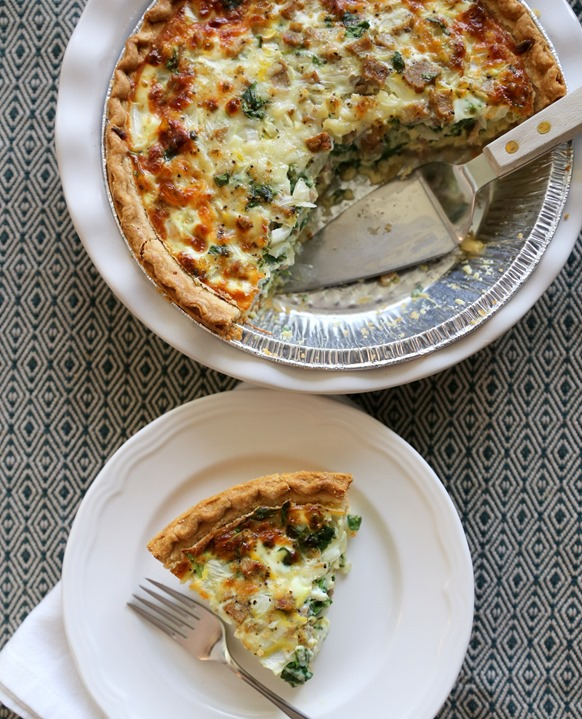 Easy Deep Dish Quiche Recipe