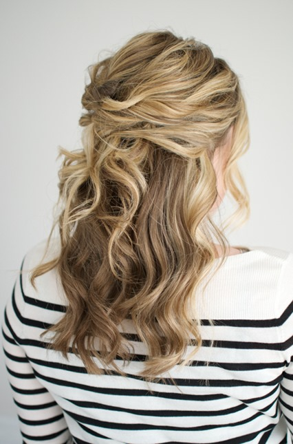 Half Up Hair Twist with Waves
