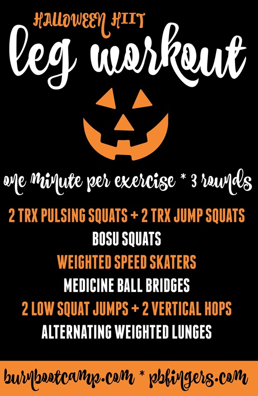 Halloween HIIT Leg Workout