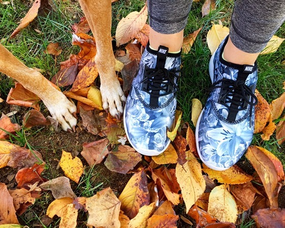 sadie paws and running shoes