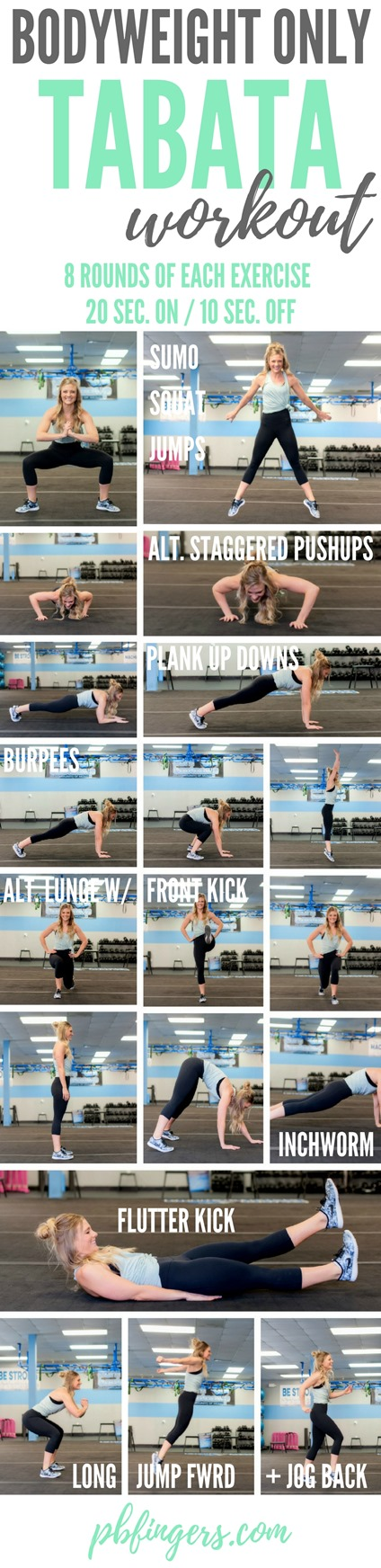 Bodyweight Tabata Workout