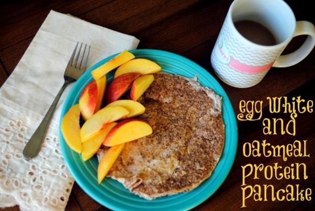 Egg White Oatmeal Protein Pancake