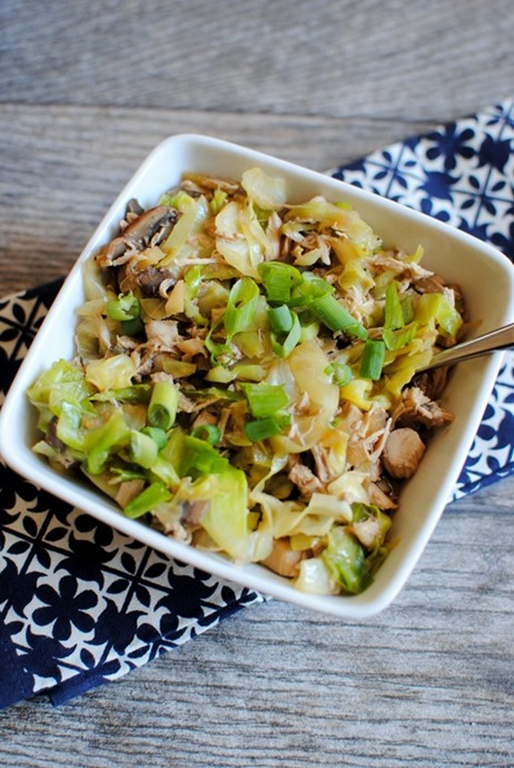 One Pot Chicken Cabbage Bowl