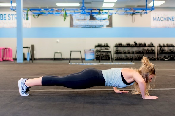 Staggered Pushup