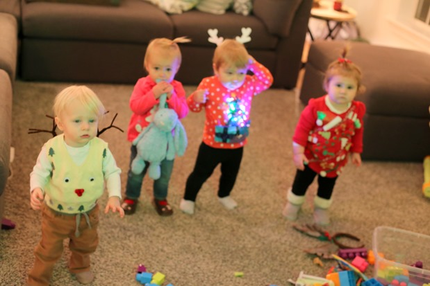 babies in ugly sweaters