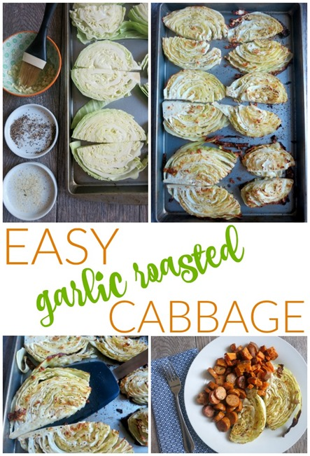 Easy Garlic Roasted Cabbage