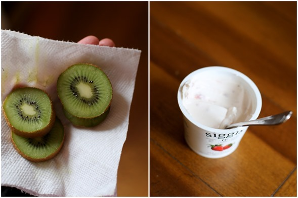kiwi and yogurt