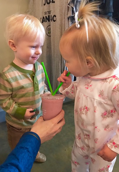 Clean Juice Date Chase and Lilly