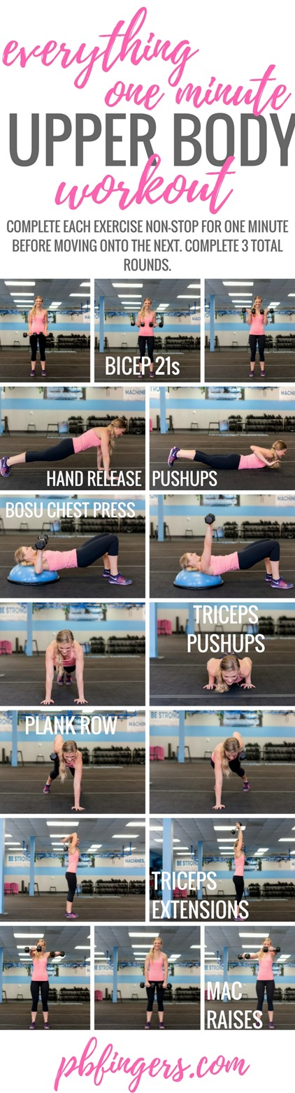 Everything One Minute Upper Body Workout