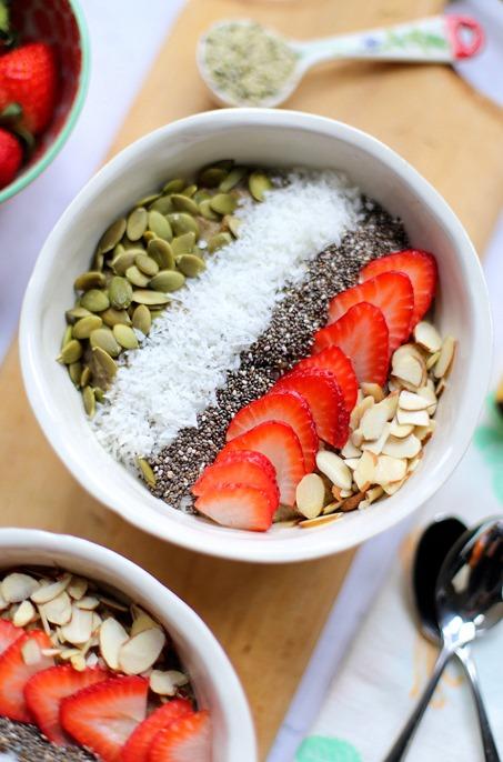 High Protein Hemp Oatmeal Breakfast