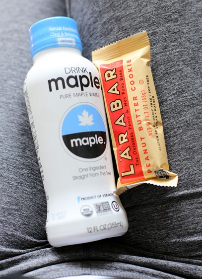 Larabar and Maple Water