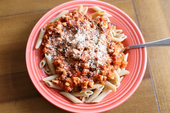 Turkey Bolognese and Whole Wheat Penne