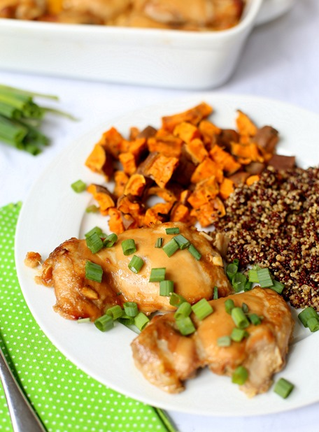 Baked Miso Chicken Thighs