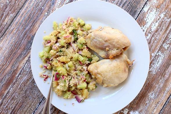 Chicken Thighs Quinoa Salad