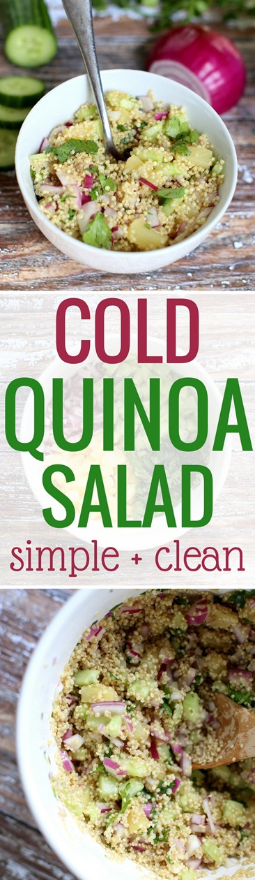 Cold Quinoa Salad (Easy recipe made with clean ingredients)