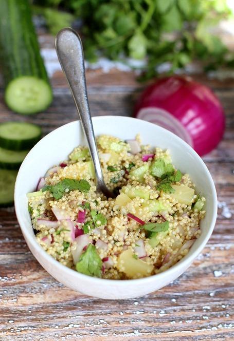 Easy Cold Quinoa Salad Recipe