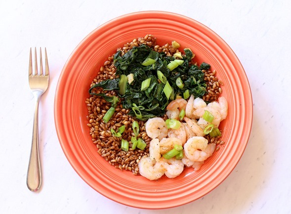 Wheatberry Shrimp Bowl