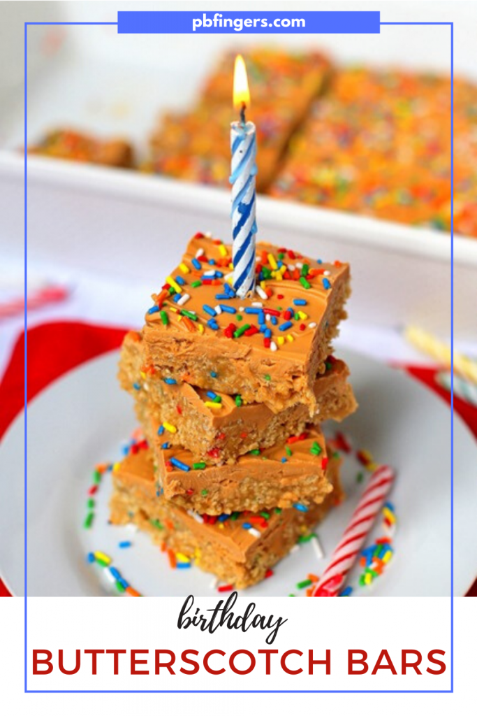 Birthday Butterscotch Bars