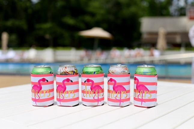 Pink Flamingo Koozies