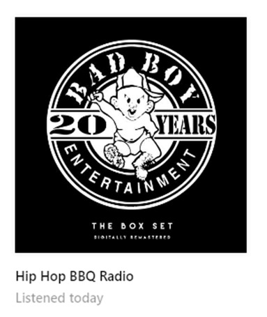 hip hop bbq pandora station