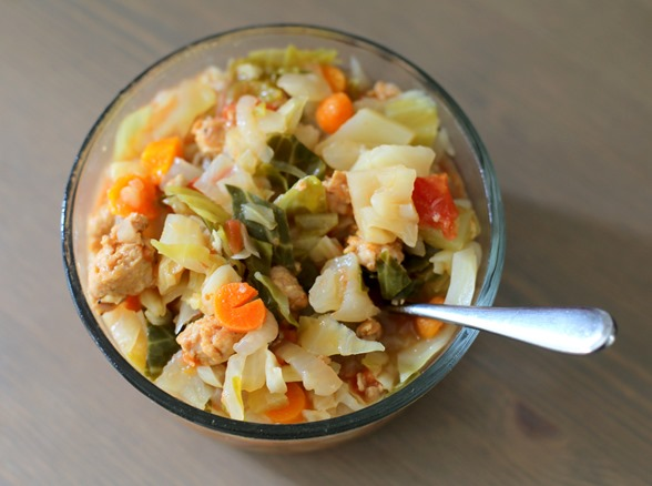 Chicken Sausage Cabbage Soup