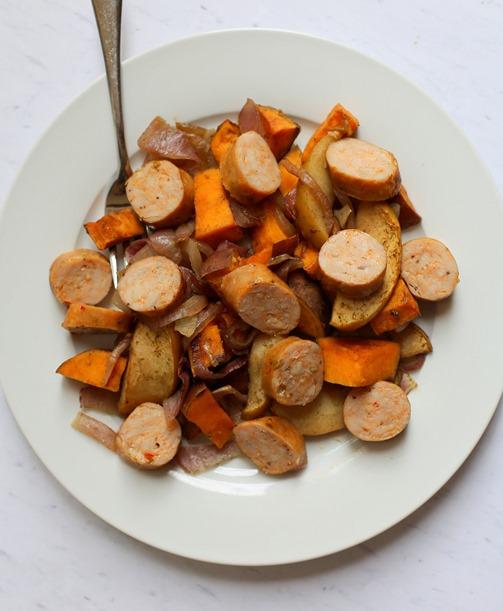 Chicken Sausage Sweet Potatoes Apples