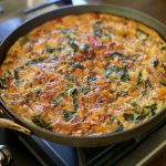 Chicken Sausage and Spinach Frittata