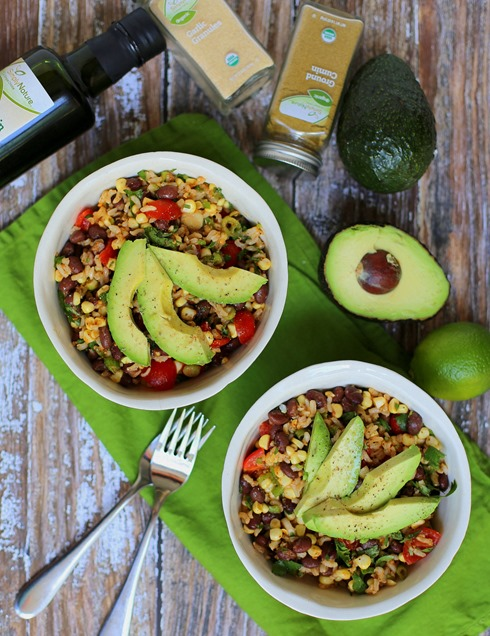Healthy Black Bean Brown Rice Salad Recipe