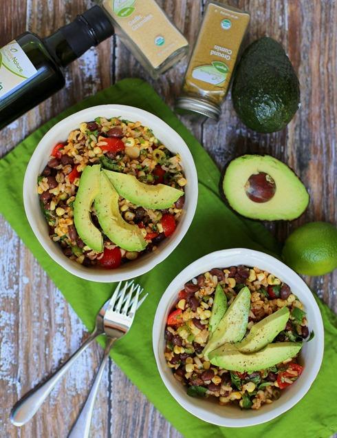 Healthy Black Bean Brown Rice Salad Recipe