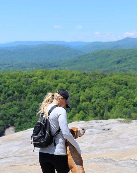 Hiking Stone Mountain NC with Dog