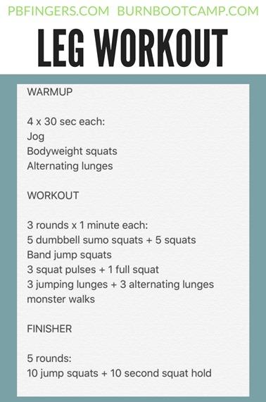 Leg Workout Burn Boot Camp
