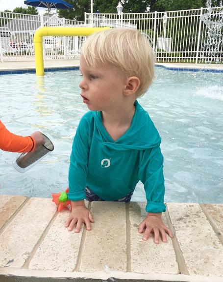 Toddler Rashguard with Hood