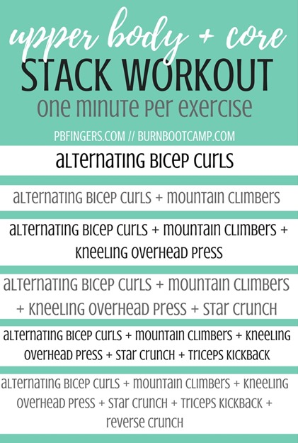 Upper Body Core Stack Workout Burn Boot Camp