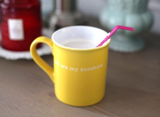 you are my sunshine mug yellow