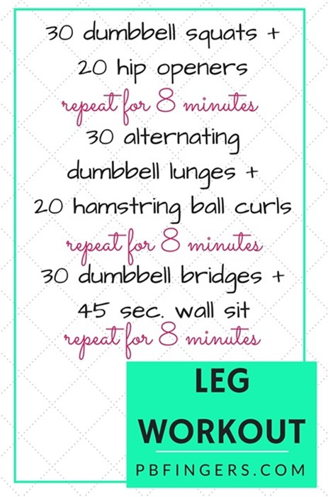 Leg Workout Three Circuits