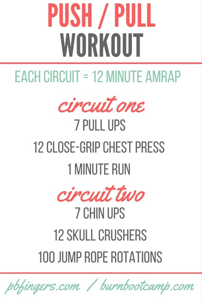 push pull workout burn boot camp