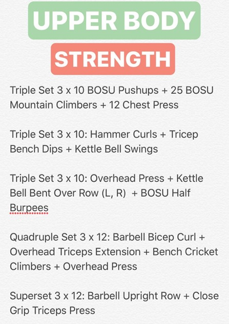 upper body strength workout