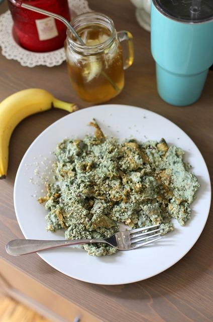 egg white spirulina protein pancake