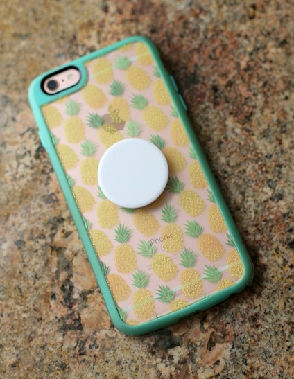 pineapple iphone case with pop socket