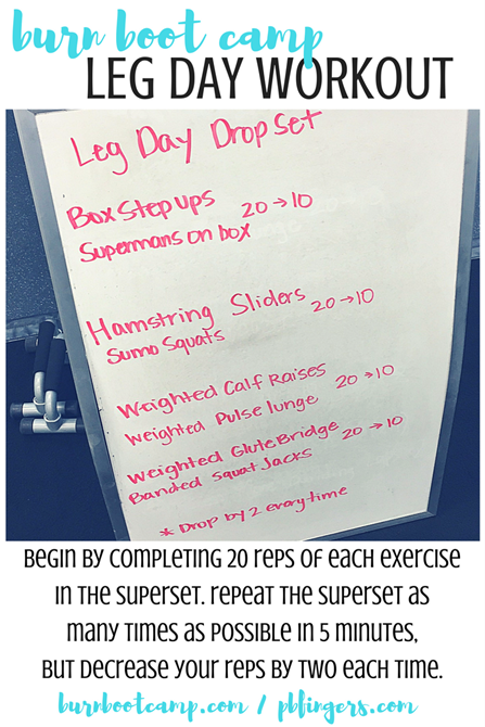 Burn Boot Camp Leg Workout