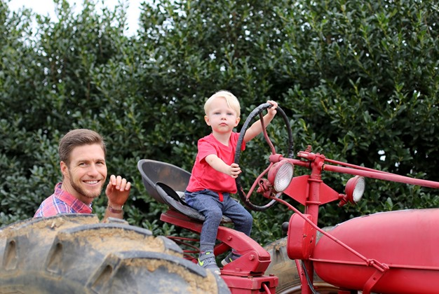 Chase Driving Tractor