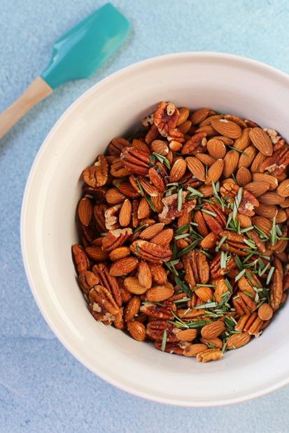 Maple Rosemary Roasted Nuts