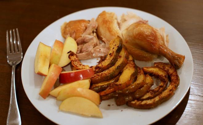 chicken acorn squash dinner