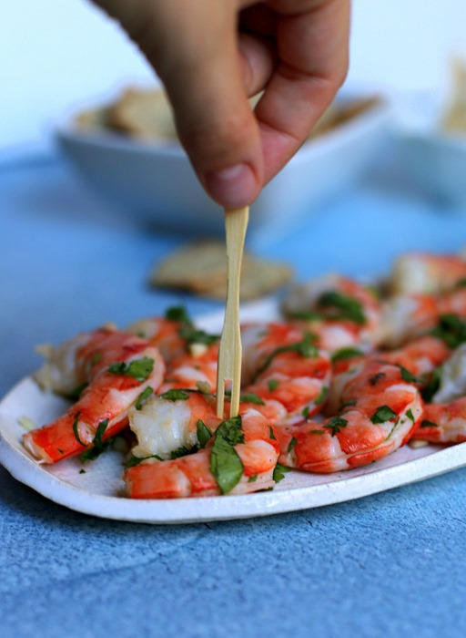 Easy Cilantro Shrimp Appetizer Dish