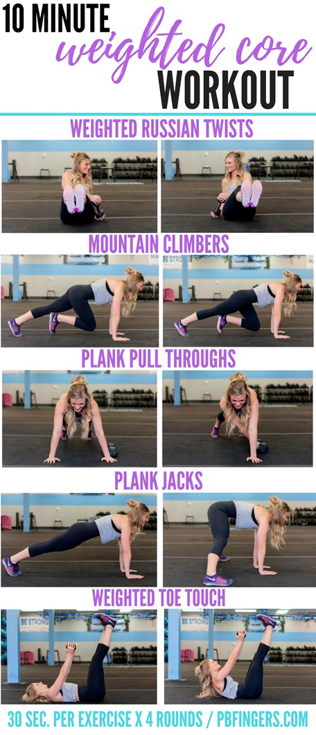 10 Minute Weighted Core Workout