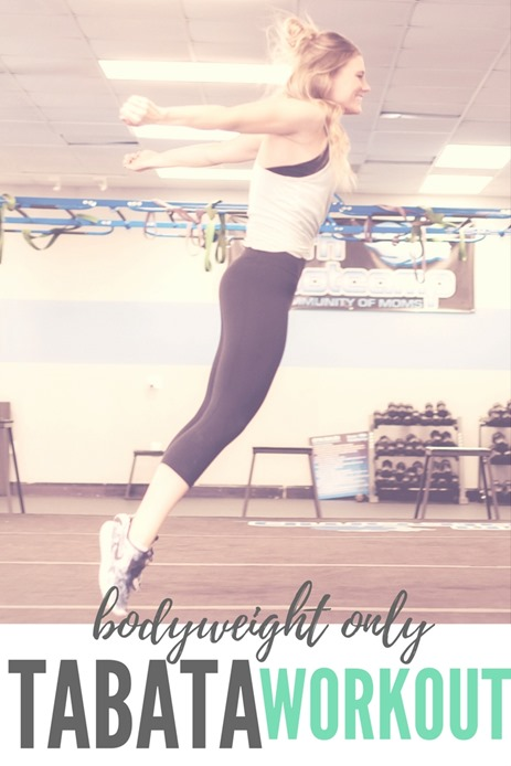 Bodyweight Tabata Workout (No equipment required)