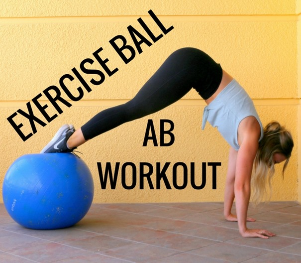 Exercise Ball Ab Workout to target your core